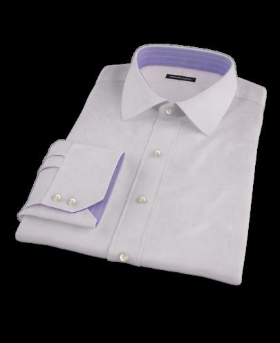 Lavender End-on-end Broadcloth Men's Dress Shirt