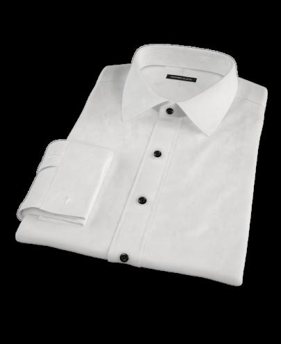 Albini White Broadcloth Men's Dress Shirt