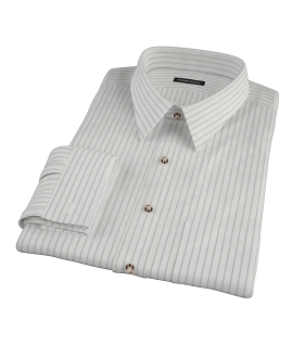 Japanese White and Blue Men's Dress Shirt