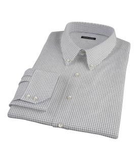 Black Grid Fitted Dress Shirt