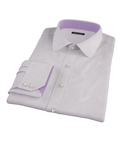 Lavender End-on-end Broadcloth Fitted Dress Shirt