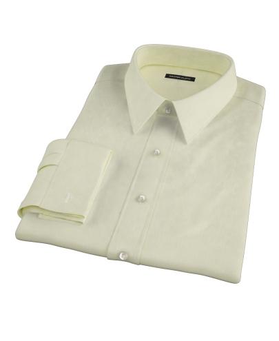 Yellow End-on-End Stripe Men's Dress Shirt