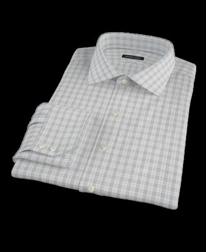 Complex Variegated Navy Check Men's Dress Shirt
