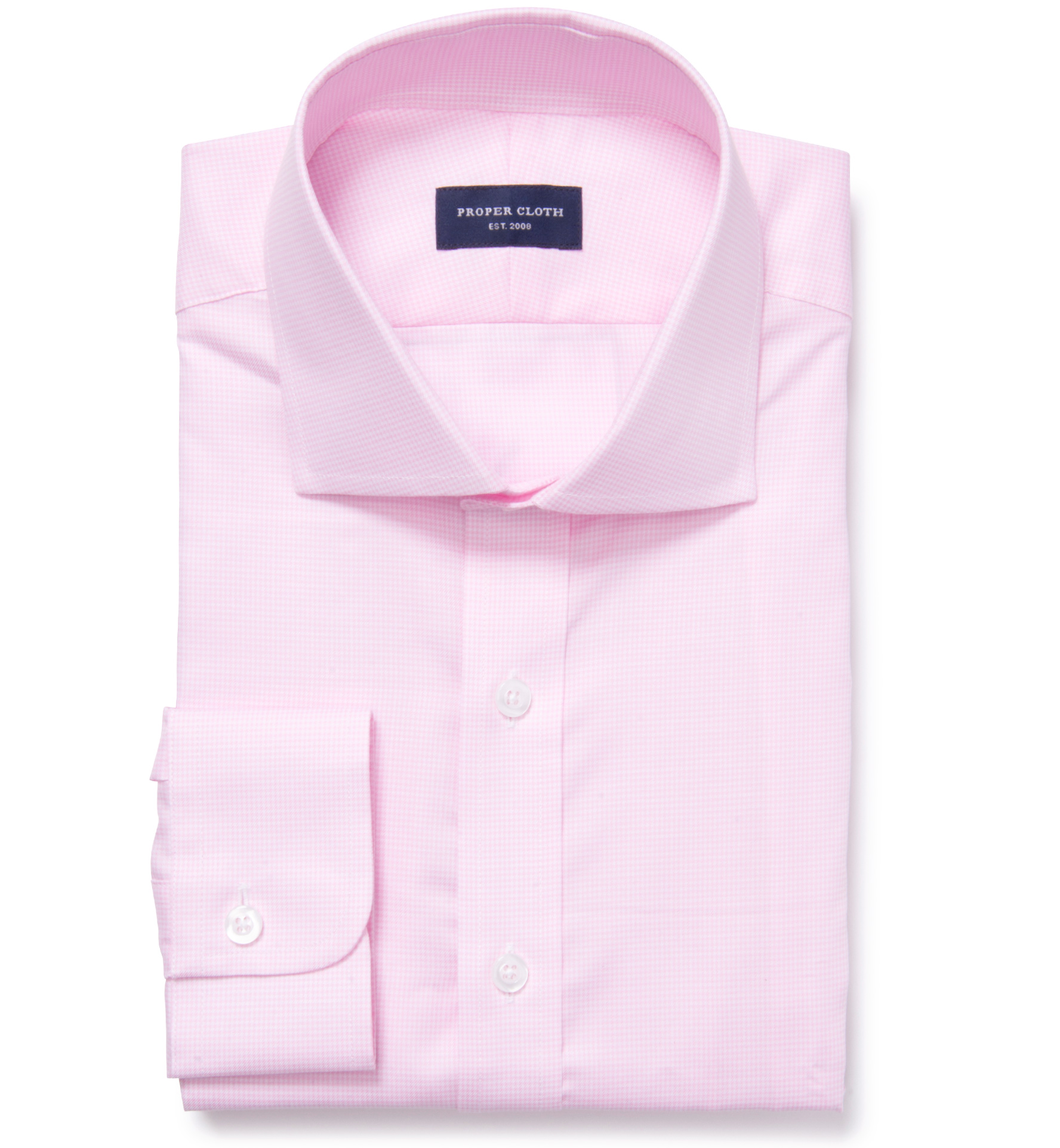 Morris wrinkle resistant pink houndstooth fitted shirt by for Wrinkle resistant dress shirts