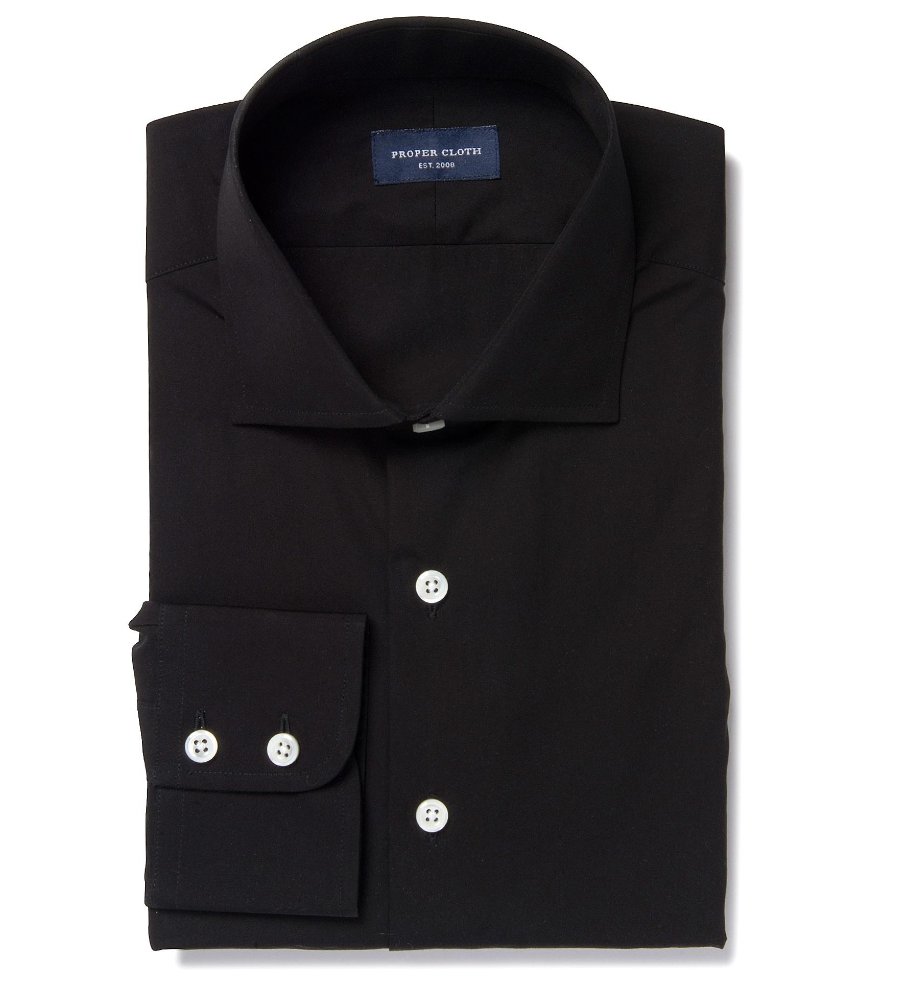 Thomas Mason Black Luxury Broadcloth Dress Shirt By Proper