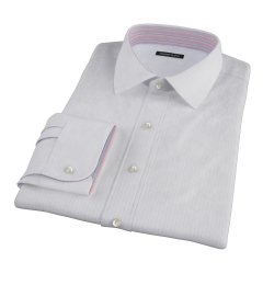 Aqua and Lavender Satin Stripe Fitted Shirt