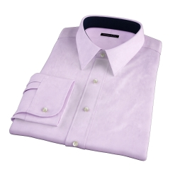 Lavender Wrinkle-Resistant Cavalry Twill Dress Shirt