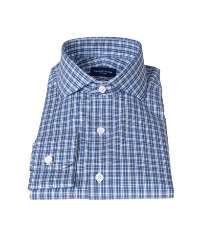 Canvas Blue Oxford Plaid Fitted Shirt