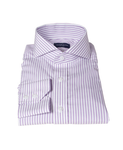 Rye Lavender Bordered Stripe Tailor Made Shirt