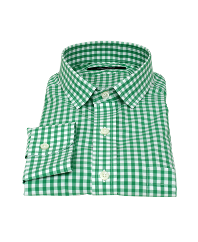 Canclini light green gingham shirts by proper cloth for Mens green gingham dress shirt