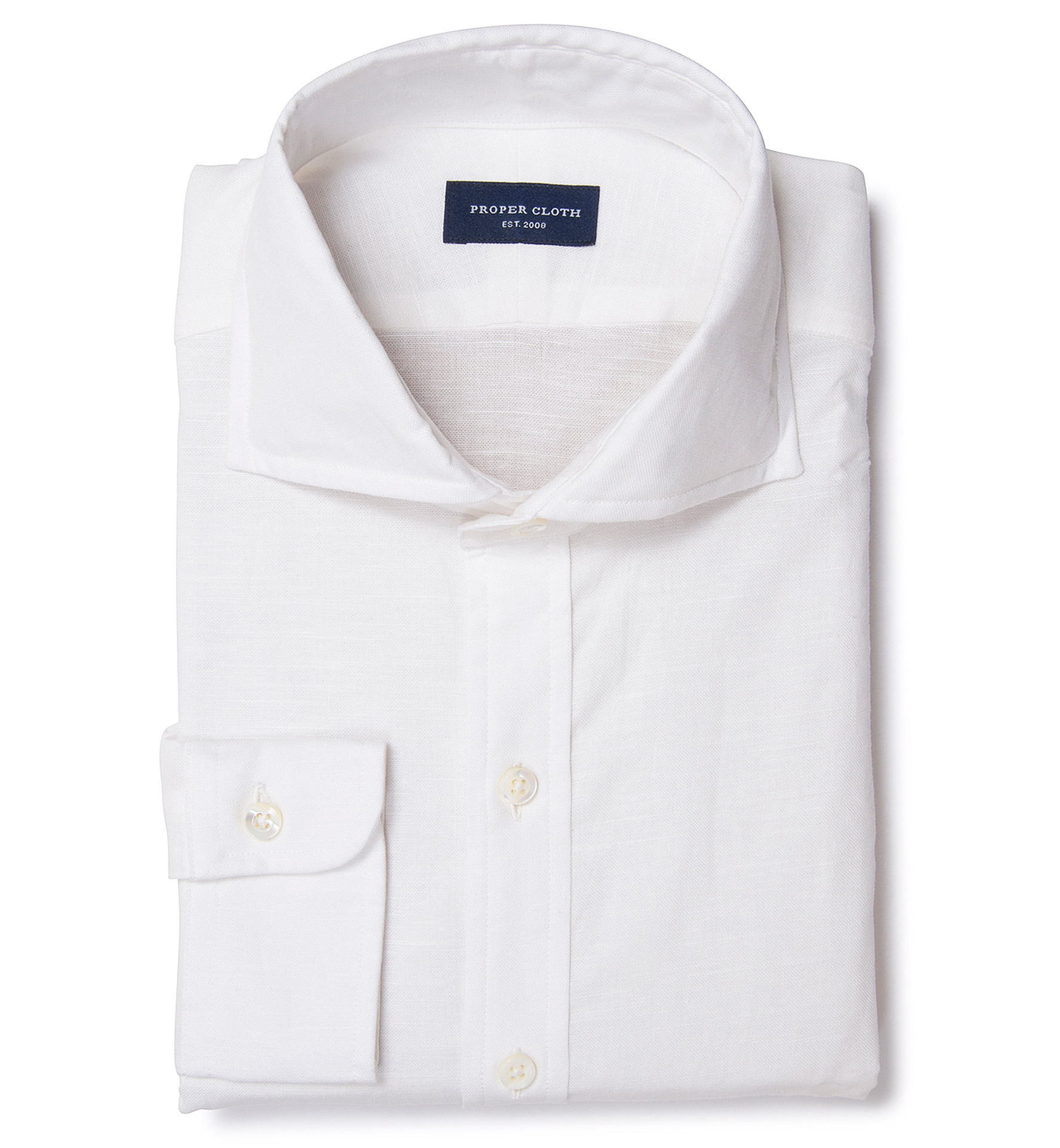 Natural White Cotton Linen Shirts by Proper Cloth