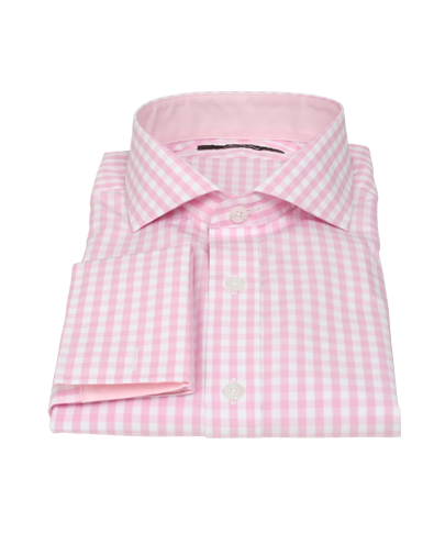 Pale Pink Gingham Shirts By Proper Cloth