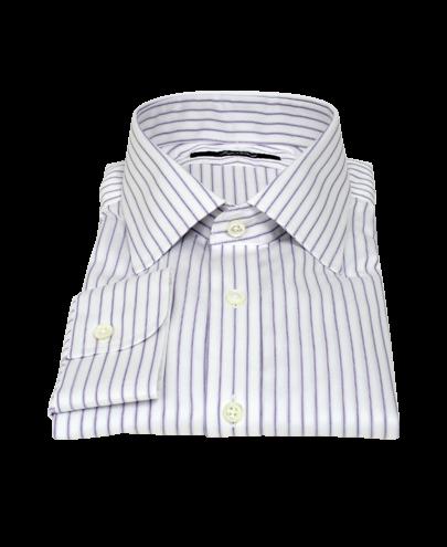 Japanese White and Lavender Custom Dress Shirt