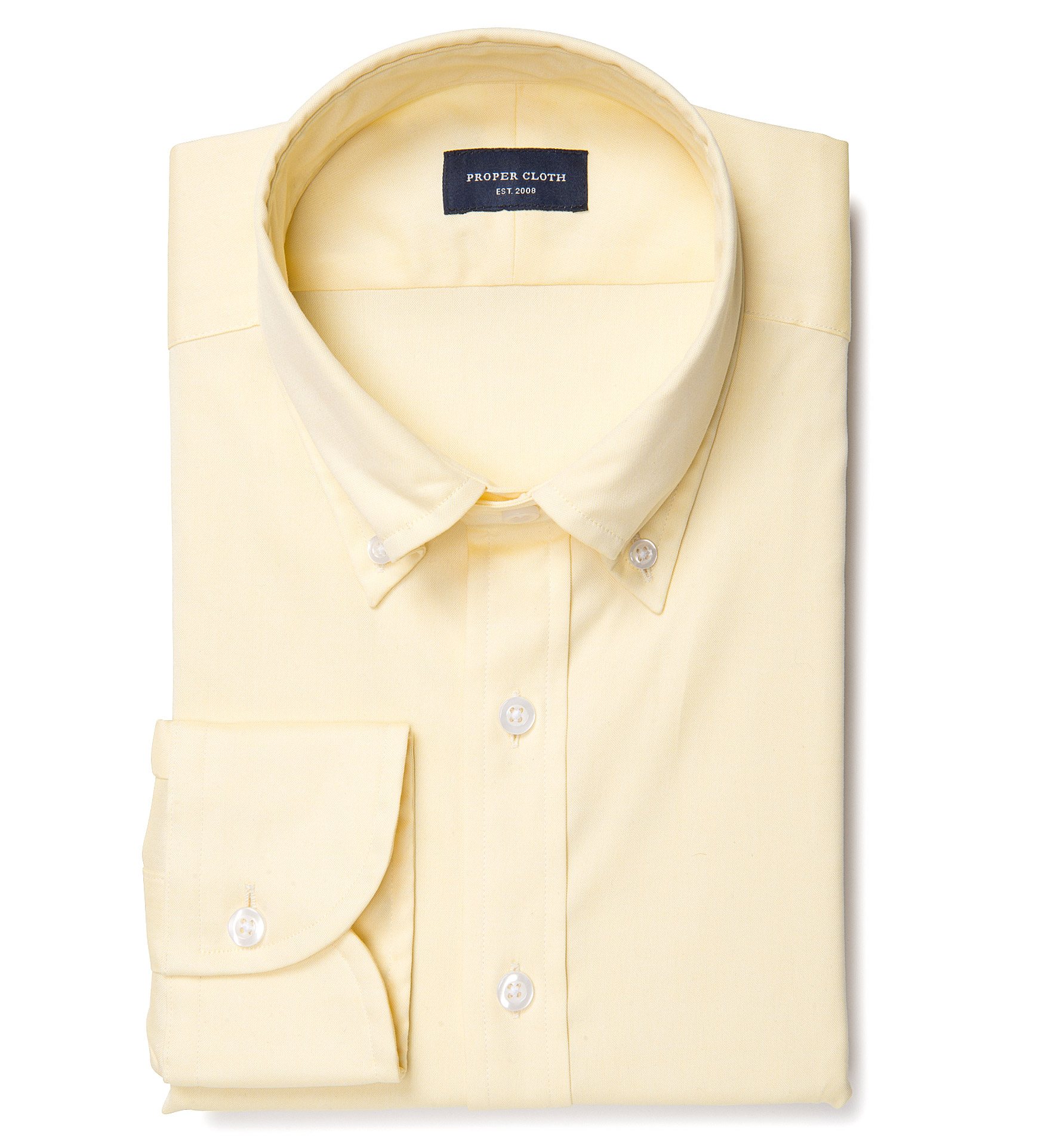 Bowery yellow wrinkle resistant pinpoint custom dress for Wrinkle resistant dress shirts