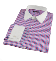Red and Blue Gingham Custom Made Shirt