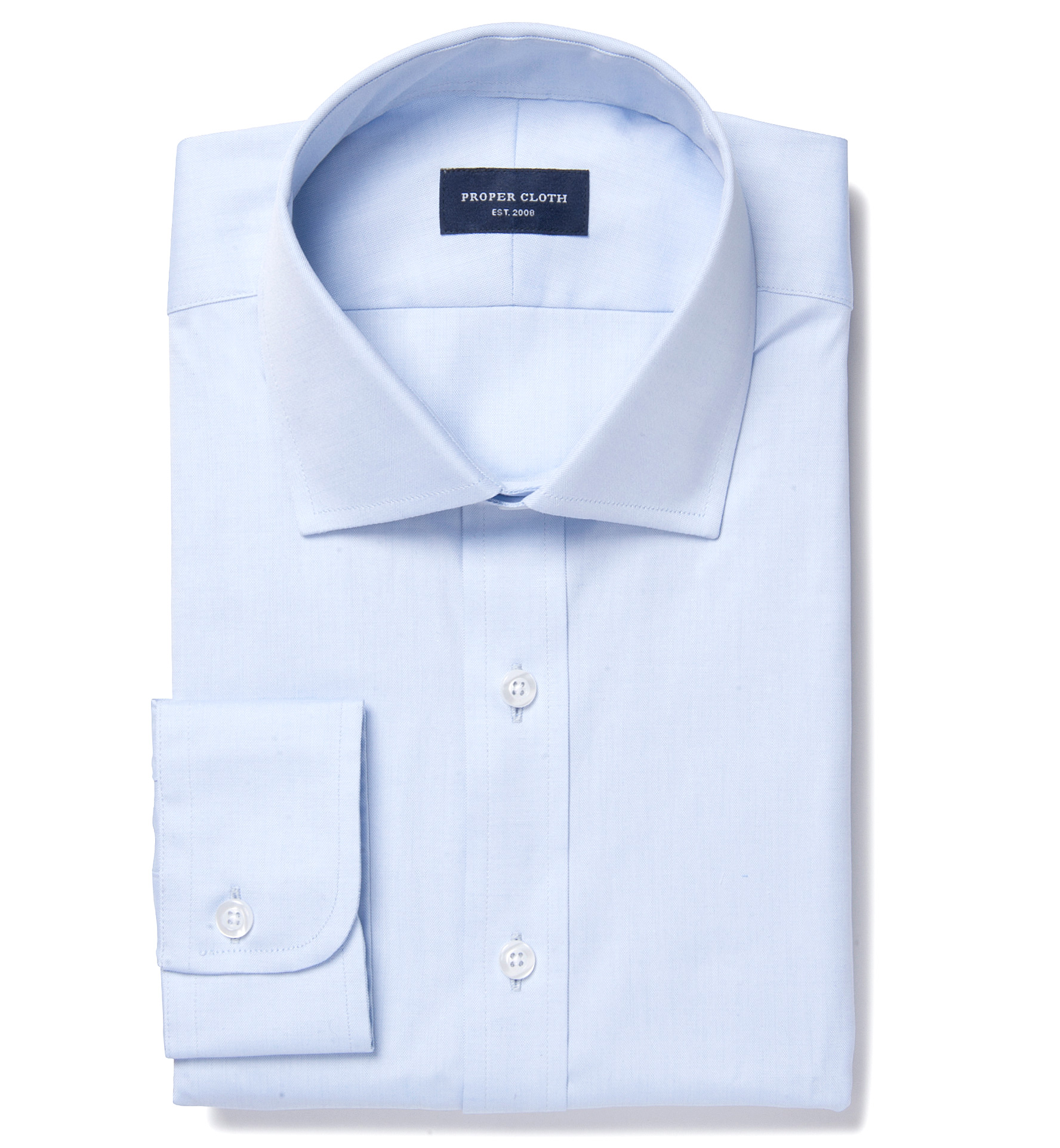Thomas Mason Light Blue Pinpoint Tailor Made Shirt By