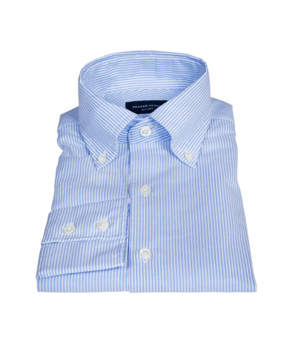 Blue cotton linen stripe shirts by proper cloth for Proper cloth custom shirt price