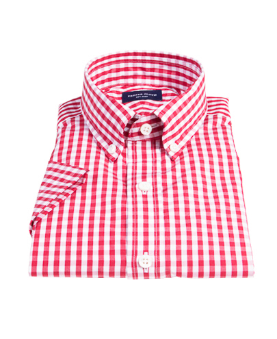 Union red gingham shirts by proper cloth for Proper cloth custom shirt price