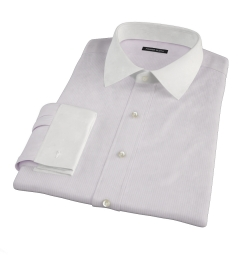 Canclini 140s Pink Stripe Dress Shirt
