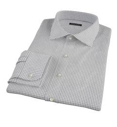 Black Grid Men's Dress Shirt