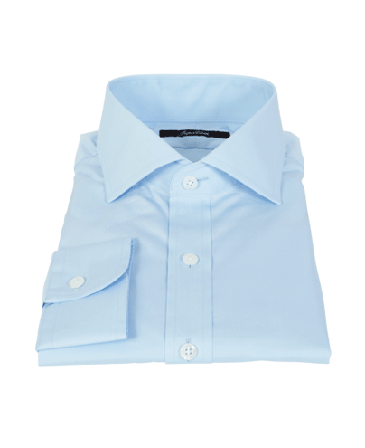Canclini Light Blue 120s Broadcloth Men's Dress Shirt