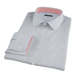 Albini Light Blue Fine Stripe Fitted Shirt