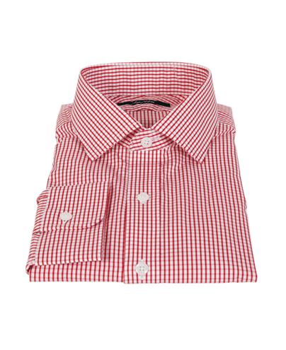 Canclini Red Medium Check Dress Shirt