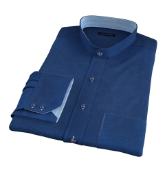 Portuguese Slate Blue Melange Oxford Dress Shirt