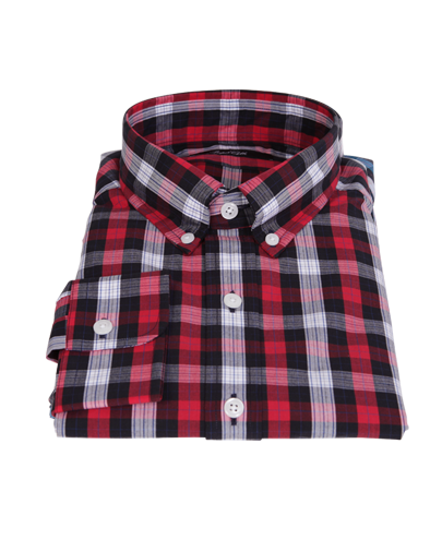 Crosby Red Plaid Custom Dress Shirt