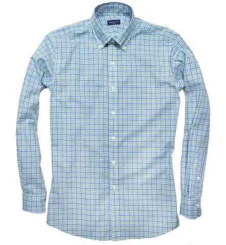 Thomas Mason Green Blue Check Men 39 S Dress Shirt By Proper
