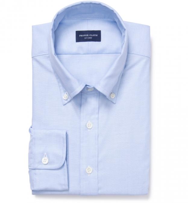 Thomas Mason Light Blue Oxford Dress Shirt By Proper Cloth