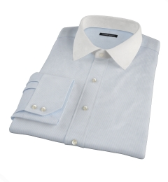 100s Light Blue Stripe Fitted Dress Shirt