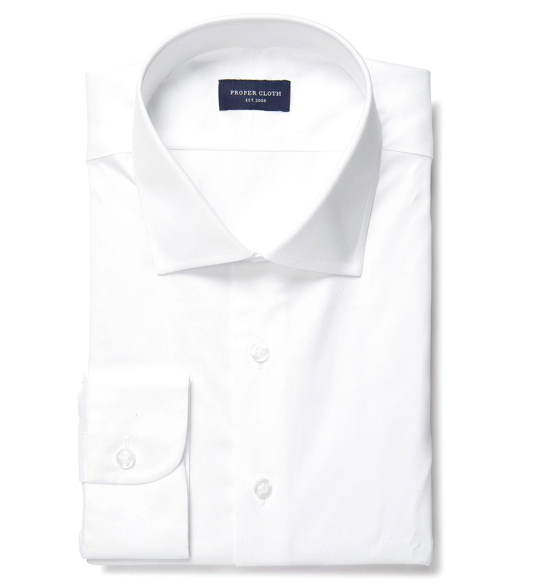 Crosby white wrinkle resistant twill fitted dress shirt by for Best wrinkle free dress shirts