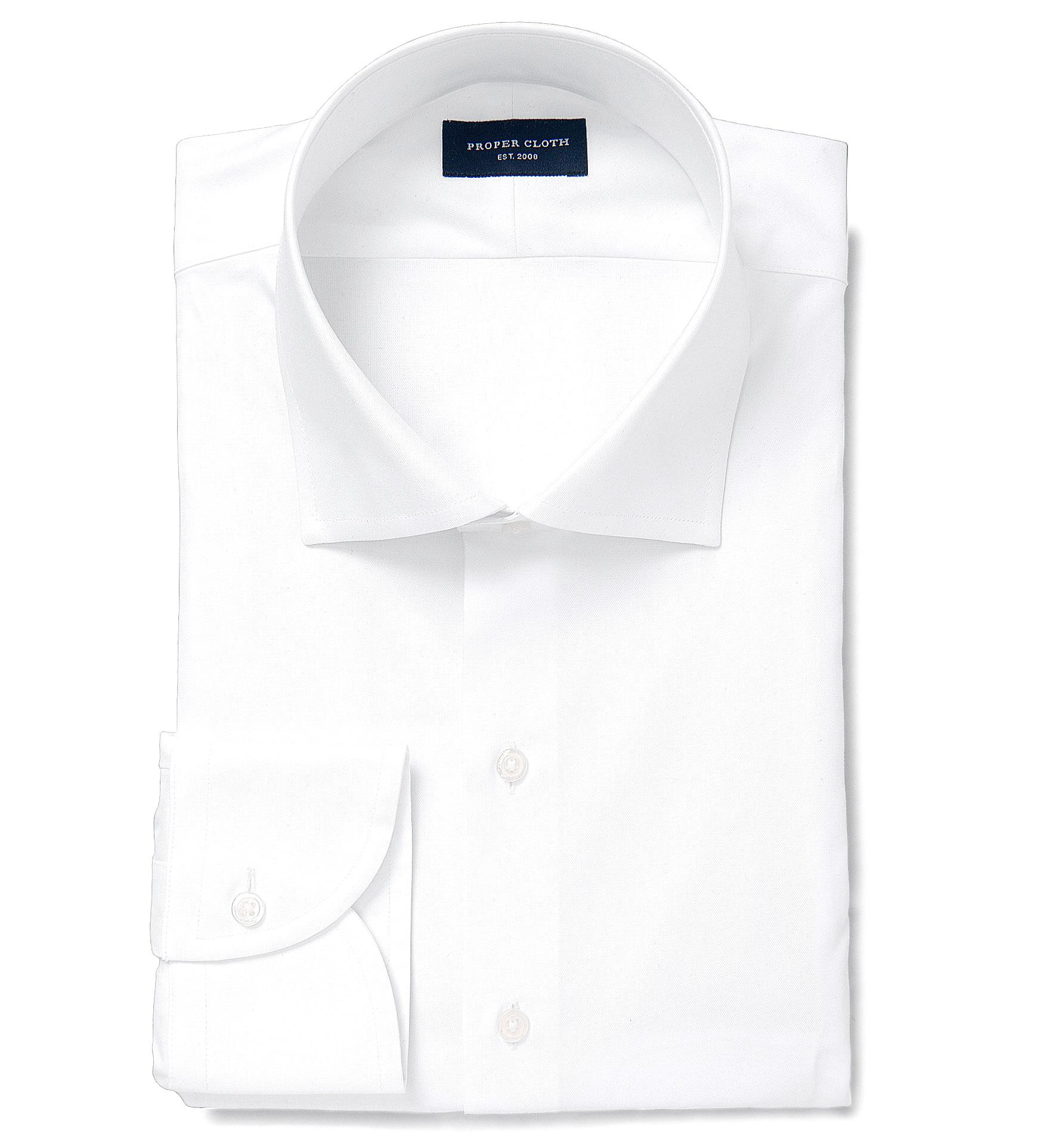 Thomas Mason Non Iron White 100s Twill Dress Shirt By