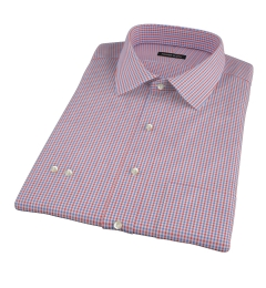 Canclini 120s Red Multi Gingham Dress Shirt