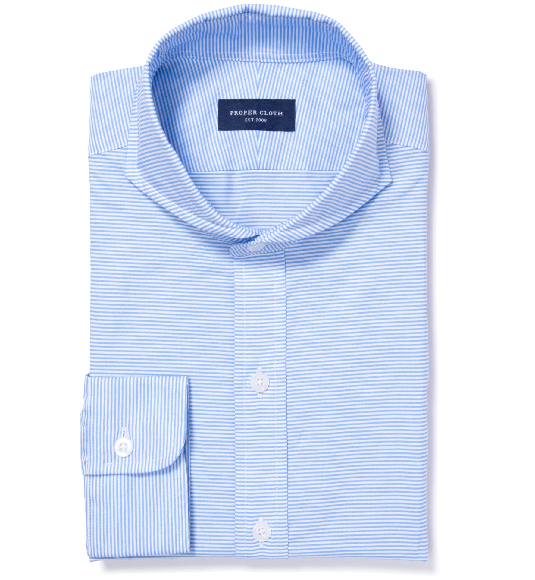 Carmine light blue horizontal stripe men 39 s dress shirt by for Horizontal striped dress shirts men