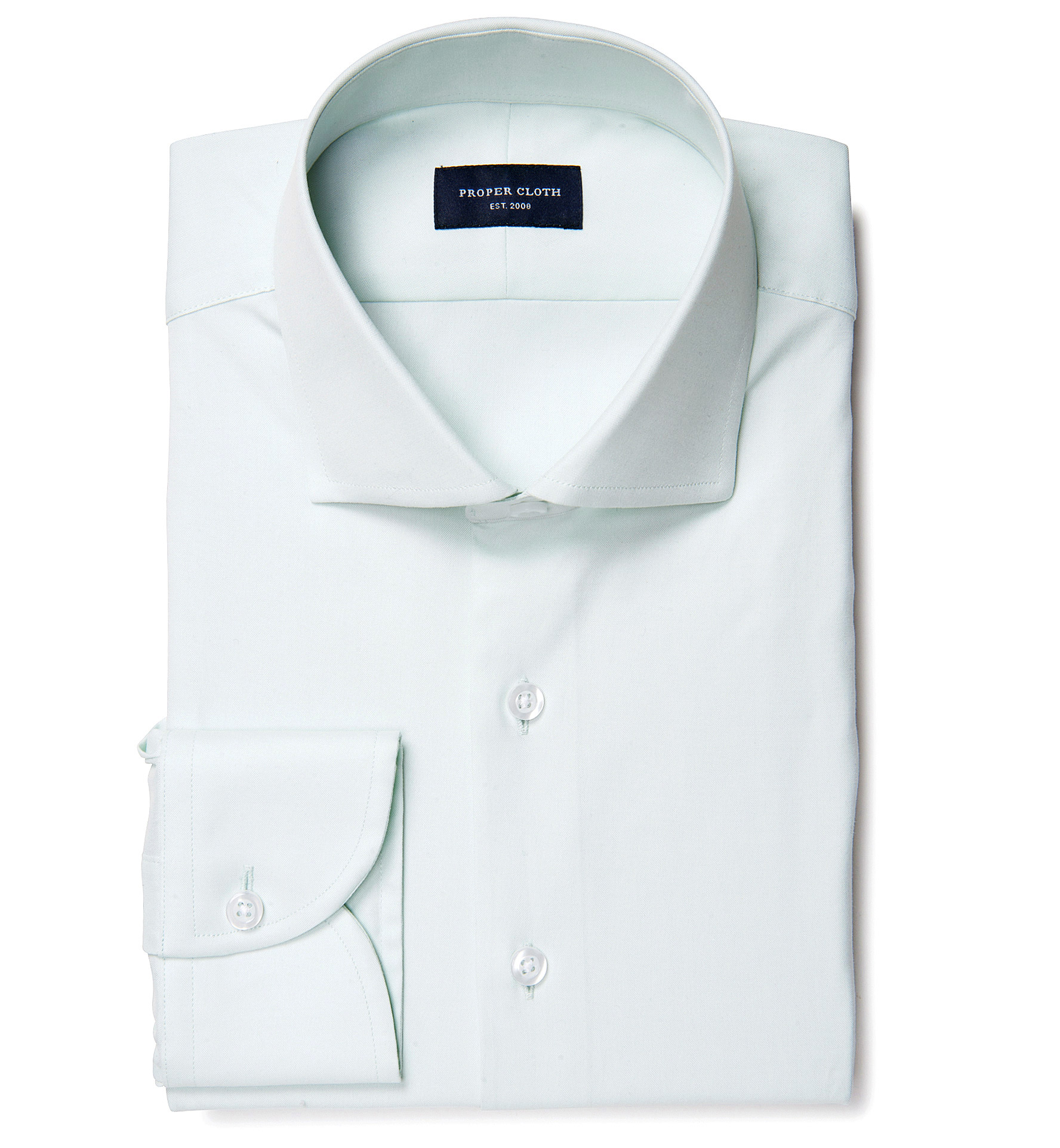 Bowery mint wrinkle resistant pinpoint dress shirt by for Proper cloth custom shirt price
