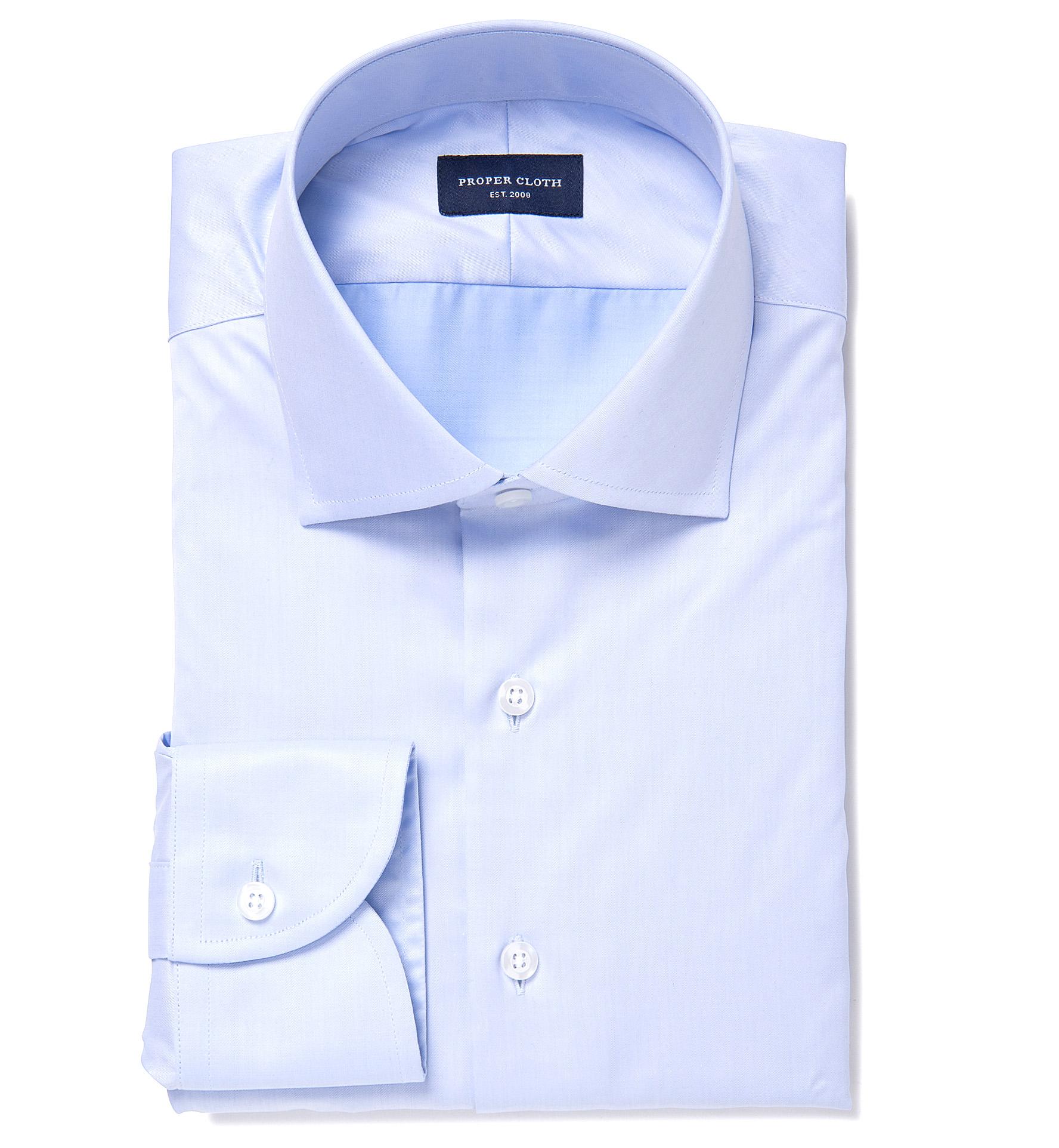 Thomas Mason Goldline Wr Light Blue Twill Men 39 S Dress