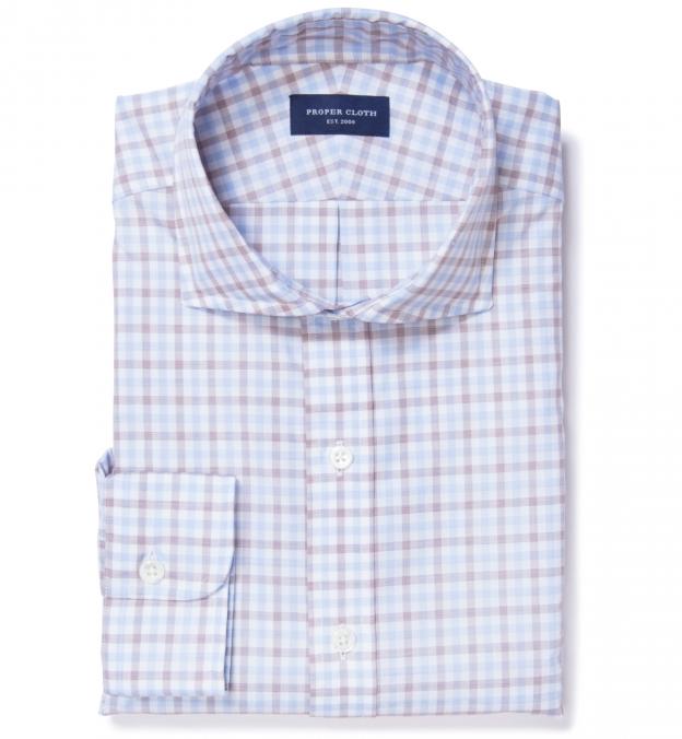 Thomas mason brown multi check tailor made shirt by proper for Thomas mason dress shirts