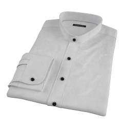 Bowery Light Grey Wrinkle-Resistant Pinpoint Custom Dress Shirt