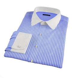 Canclini Blue Reverse Bengal Stripe Tailor Made Shirt