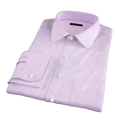 Lavender Wrinkle-Resistant Cavalry Twill Fitted Dress Shirt