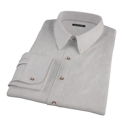 Clove Brown End-on-End Stripe Custom Dress Shirt