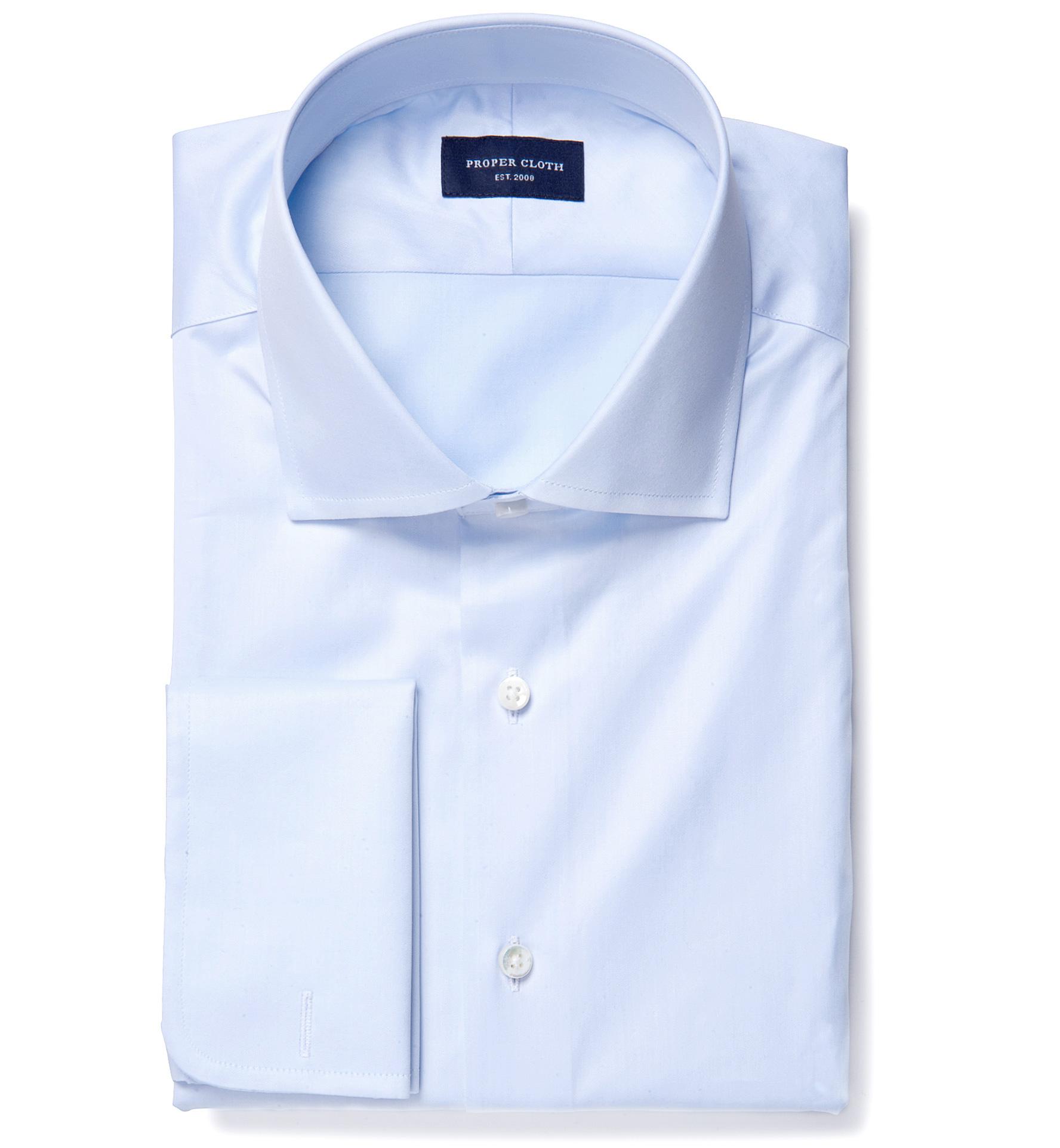 Thomas mason goldline light blue fine twill tailor made for Thomas mason dress shirts