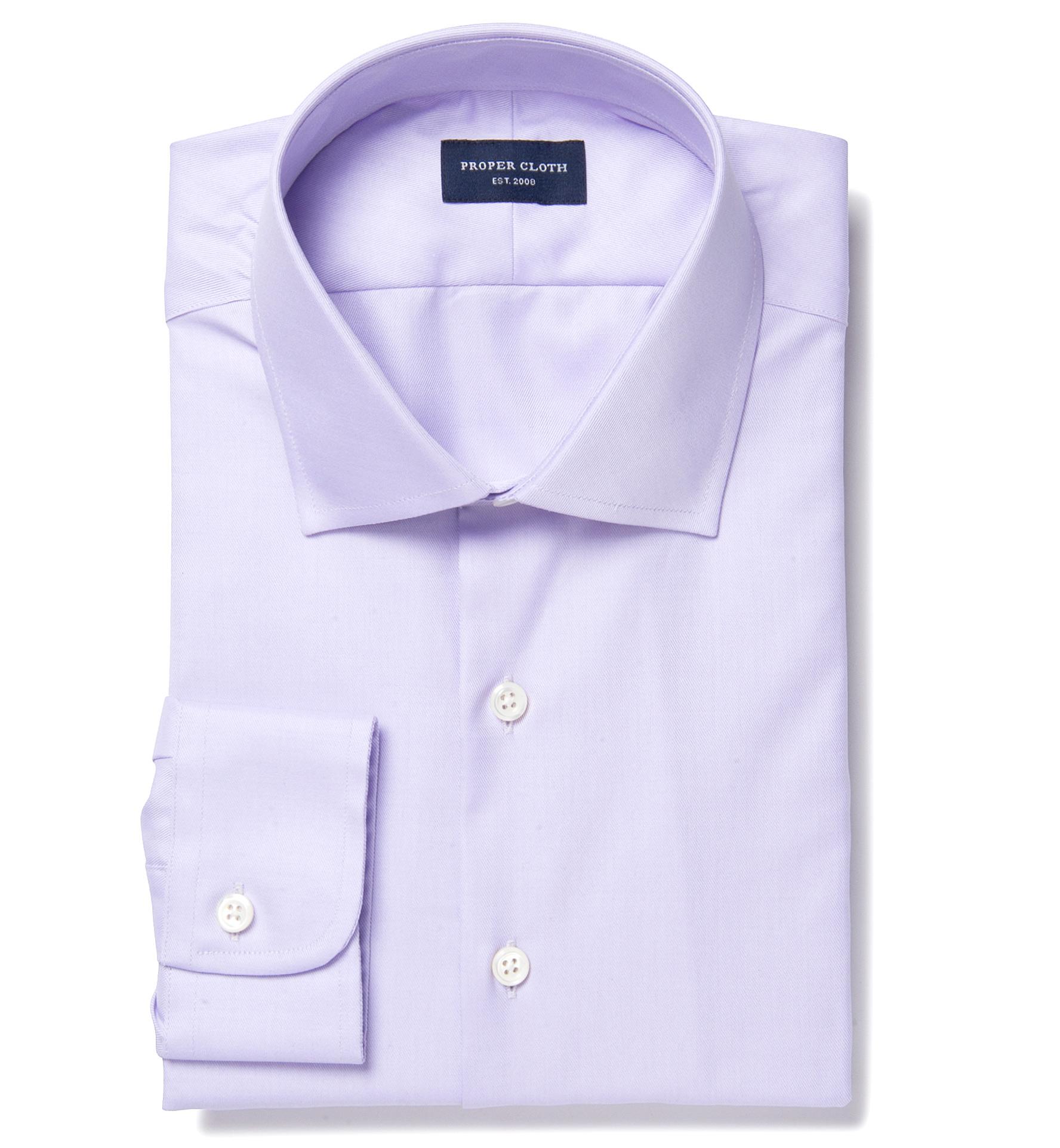 Thomas mason lavender fine twill men 39 s dress shirt by for Thomas mason dress shirts