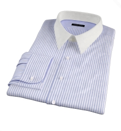 Blue University Stripe Heavy Oxford Men's Dress Shirt