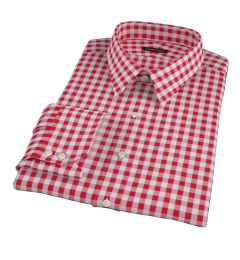 Red Large Gingham Dress Shirt