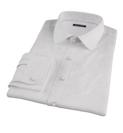 140s Lavender Wrinkle Resistant Grid Custom Dress Shirt
