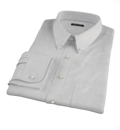Bowery Light Grey Wrinkle-Resistant Pinpoint Fitted Dress Shirt
