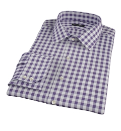 Eggplant Large Gingham Custom Made Shirt